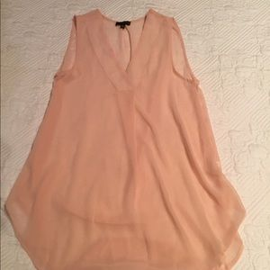 The Limited sheer pink tank top